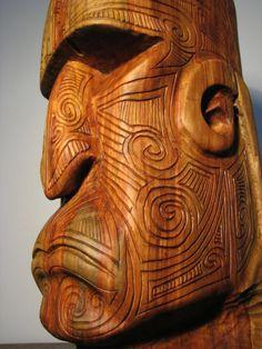 moko tattoo by olivelebasque on DeviantArt Wood Carving Patterns, Wood Carving Art, Wood Art, Driftwood Sculpture, Tree Sculpture, Tiki Man, Tiki Tiki, Native American Totem, Rockabilly Art