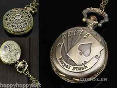Vintage-Bronce-Plata-Cuarzo-Reloj-De-Bolsillo-Steampunk-De-Estilo-Antiguo-Colgante-Cadena