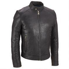 Wilsons Leather Front Zip Leather Jacket w/ Gunmetal Hardware - v2