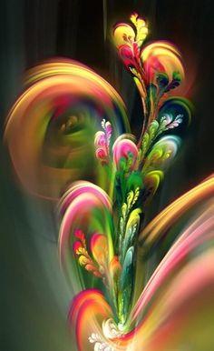 Explore amazing art and photography and share your own visual inspiration! Fractal Design, Fractal Art, Fractal Images, Art Floral, Fantasy Kunst, Fantasy Art, New Media Art, Flower Wallpaper, Art Design