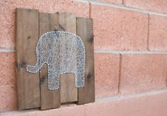 Elephant String Art - like the idea of taking scrap wood and making art with nails and string; tutorial here: http://quelinda-crafts.blogspot.com/2012/01/string-wall-art-for-valentines-day.html