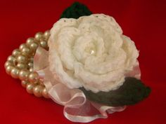 crochet flower wrist corsage