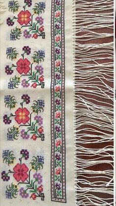 This Pin was discovered by HUZ Cross Stitch Art, Cross Stitch Flowers, Cross Stitch Designs, Cross Stitching, Cross Stitch Patterns, Embroidery Motifs, Ribbon Embroidery, Cross Stitch Embroidery, Tapestry Crochet