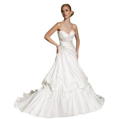 GEORGE BRIDE Sweetheart Pick-up Ball Gown Satin Court Train Wedding Dress GEORGE BRIDE, http://www.amazon.com/dp/B008YQKWBY/ref=cm_sw_r_pi_dp_BlWfrb10QVHJ0