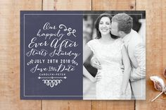 Fairytale Wedding Save The Date Cards by R studio at minted.com
