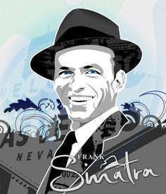 Awesome art of an Awesome artist, Ole blue eyes himself, Frank Sinatra! Rat Pack Party, Frank Sinatra Art, Celebrity Portraits, Stars At Night, World Music, Cool Art, Awesome Art, Music Artists, Blue Eyes