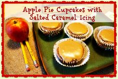 YUM! Apple pie cupcakes with salted caramel icing. Perfect for Fall.