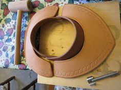 Questing for the Dragon - 16th Century Gorget made from leather - a possible to go with pauldrons and scale