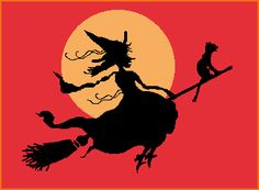 SkullBlossom: Free Web Graphics and Clipart: Witch Gal Rides Again: Free Witch Clipart!