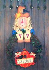 Primitive Wooden Patterns Free | Welcome Scarecrow Primitive Wood Craft Pattern Wreath Holder Folk Art ...