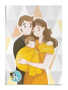 Babywearing, Mom And Baby, Colouring, Babys, Disney Characters, Fictional Characters, Wraps, Animation, Lifestyle