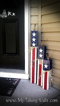 FIRECRACKER TUTORIAL Red white blue outdoor decor