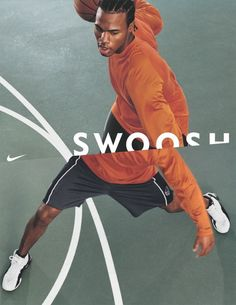 Not every ad has to have really difficult-to-make art direction! Nike shows two different focuses here by literally showing two different shots.