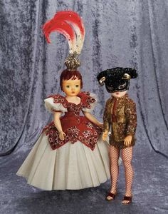 A Child's Dream Come True : 24 Cissy in Red Sequin Feathered Costume of Ice Capades. Yellow Evening Dresses, Blush On Cheeks, Vintage Madame Alexander Dolls, China Dolls, Yellow Lace, Barbie And Ken, Vintage Dolls, Festival Fashion, Costumes