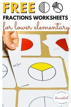 Free Fractions Worksheets for Lower Elementary