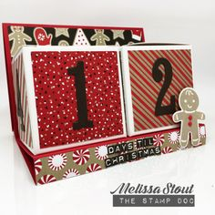 Stampin' UP! Candy Cane Lane Advent Calendar by Melissa Stout