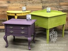 Only today for Mardi Gras: Annie Sloan's Charleston colors on salYou can find Annie sloan and more on ou. Annie Sloan Painted Furniture, Chalk Paint Furniture, Annie Sloan Chalk Paint, Diy Workshop, Painting Cabinets, How To Make Wreaths, Repurposed, Charleston, Design Inspiration