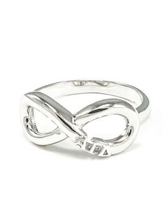 Alpha Gamma Delta Sterling Silver Infinity Ring