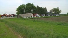 It took crews hours to wrangle 150-200 pigs after a truck rolled over Tuesday.