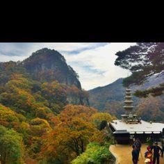 Temple in chungryang mountain in douth korea! Beautiful!