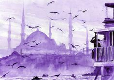 paintings of istanbul, turkey art, travel europe