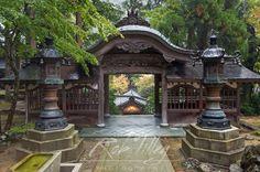 Japan, Fukui, Eiheiji Temple, Courtyard