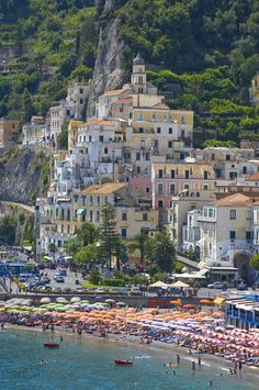 The town of Amalfi, Italy This beach may be too crowded! Worse than Old Silver Beach in N. Falmouth, MA