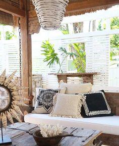 The Boho Bungalow Outdoor Spaces, Outdoor Living, Outdoor Cabana, Deco Boheme, Global Style, Dream Decor, Porch Swing, Decoration, Interior And Exterior