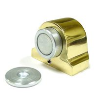There are 2 main sections to the magnetic door stop. The 1-3/8 inch high dome style base section has a permanent magnet on the ...