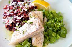 Ugnsbakad torsk med matvetesallad - recept