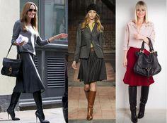 Botas Cano Longo_Saia Rodada_Boots and Skirt