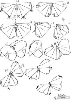 Dot Butterfly Origami Tutorial 2