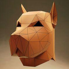 3D Model Of Mask - Mr. PitBull Мистер ПитБуль - 3D модель Маски  #saint_p_heads #полигональные_головы #картонные_головы #polygonal #DIY #маски #paperheads #pitbull #lowpoly #papercraft #spb #head #питбуль #dog #SPH #piter #питер #санктпетербург #собака #сделайсам #голова #3D #model #3Dmodel