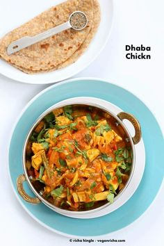 Vegan Dhaba Chicken-free Chickn - Beyond Meat Dhaba curry and Giveaway! - Vegan Richa