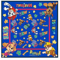"Bow-WOW! This officially licensed Paw Patrol Bandana is comfortable and breathable, perfect as a face cover or fun fashion accessory. Featuring your favorite Paw Patrol characters Chase, Rubble, Skye, and Marshall, this bandana makes a great gift for any Paw Patrol mega fan. At 22"" x 22"" this bandana will fit children and adults - perfect for kids and parents. Ages 3+."
