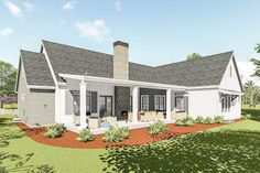Modern Farmhouse With Optional Finished Lower Level - 64460SC - 02