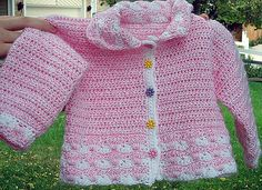 Pretty Baby Cardigan By Marilyn Coleman - Free Crochet Pattern - (ravelry)