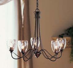 Hubbardton Forge 425052 Trellis Water Glass Chandelier - All For Decoration Kitchen Lighting Over Table, Dining Room Light Fixtures, Kitchen Lighting Fixtures, Water Lighting, Dining Room Lighting, Home Lighting, Light Water, Lighting Ideas, Dining Room Chandeliers