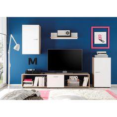 Zostavy : Obývacia stena, dub sonoma/biela, SINISTER