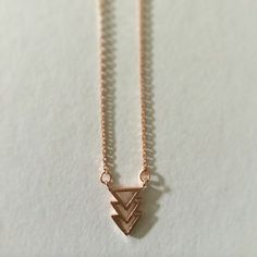 Rose Gold Plated Arrow Necklace 16in chain by Sunray Jewels on Opensky #jewelry