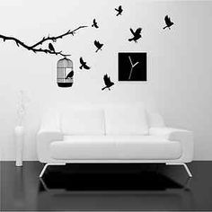 tree stencils | ... BRANCH TREE WALL ART STICKER DECAL MURAL STENCIL VINYL PRINT | eBay