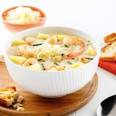 Coquille Saint Jacques, Cheeseburger Chowder, Cantaloupe, Instant Pot, Crockpot, Beans, Healthy Recipes, Healthy Food, Ethnic Recipes