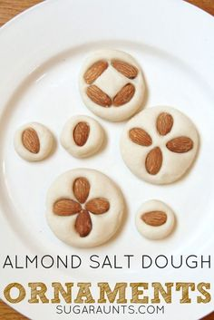 Almond Scented Salt Dough Recipe for Christmas ornaments or sensory play