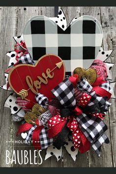 Sharing a Valentine wreath created by Trendy Tree customer, Holiday Baubles. Visit her Etsy shop today! Shop Trendy Tree online for mesh, wreath forms, ribbon Valentine Day Wreaths, Valentines Day Decorations, Valentine Day Crafts, Holiday Crafts, Holiday Decorations, Homemade Valentines, Valentines Day Decor Rustic, Valentine Ideas, Kids Valentines