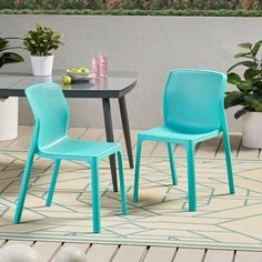 Shop Gardenia Outdoor Modern Stacking Dining Chair by Christopher Knight Home - W x D x H - Overstock - 30882633 Outdoor Dining Chairs, Modern Dining Chairs, Patio Chairs, Dining Chair Set, Vintage Outdoor Furniture, Metal Patio Furniture, Shower Chair, Minimalist Design, Home And Garden