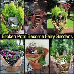 Broken Pots Become Fairy Gardens http://theownerbuildernetwork.co/hf2q You know all those broken terracotta pots you've thrown away? They could have been transformed into a fairy garden for the kids. Are you tempted to go and break one just so you have an excuse to make one now?