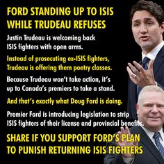 Ford standing up to ISIS, while Trudeau welcomes them with open arms. Truth Hurts, It Hurts, Poetry Classes, Pipeline Construction, Scum Of The Earth, Praying For Our Country, Freedom Love, O Canada, Open Arms