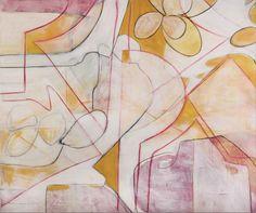 """For Sale: She Waits for Flowers by Randi Russo   $3,800   50""""w 42""""h   Original Art   https://www.vangoart.co/randirusso/she-waits-for-flowers @VangoArt"""