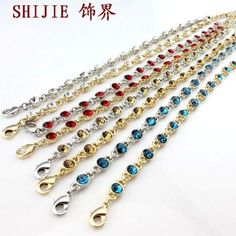 B0224 Trendy Accessories rose gold chromophous anklets female jewelry leglet TE3.99 30D $1.99