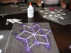 Rhombus Snowflake!  Love the colored glitter.